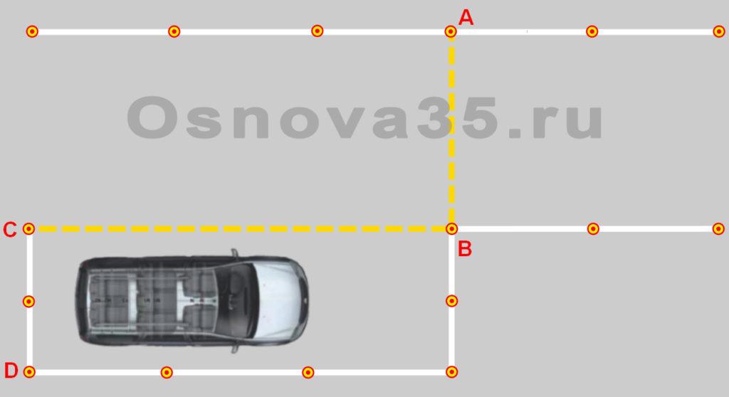 Параллельная парковка на площадке